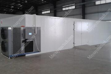 Máy sấy bơm nhiệt hai tấn sản phẩm, phù hợp cho quy mô sấy lớn