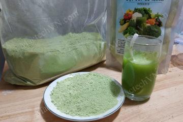 Cách làm bột bông cải xanh sấy lạnh, tìm hiểu công nghệ sấy khô