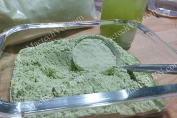 Cách làm bột mướp đắng sấy lạnh, so sánh màu sắc sản phẩm